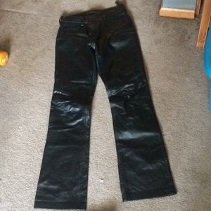 Boot cut size for genuine leather lining pants